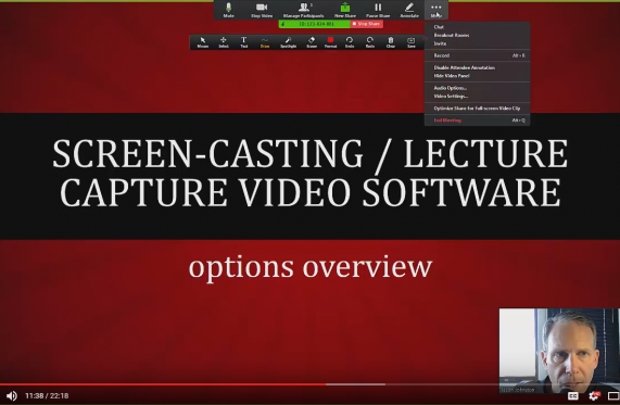 zoom for screencasting video
