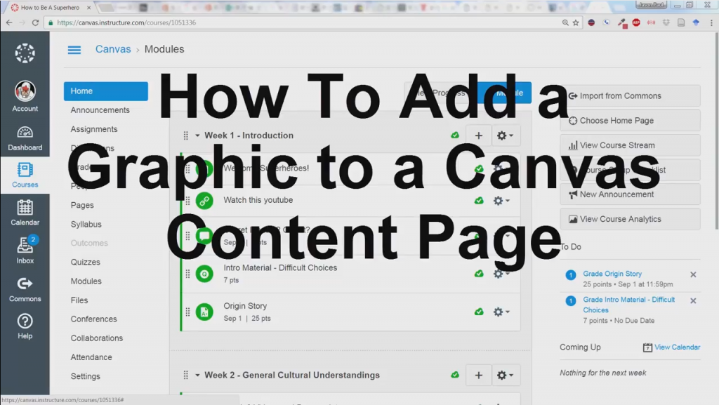 Header image for How to add graphics to content pages