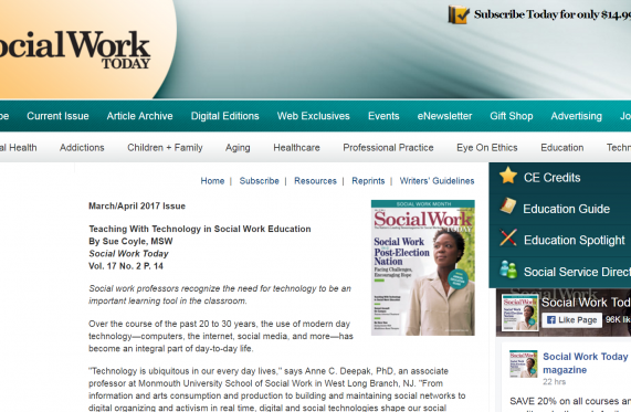 social work today website cover