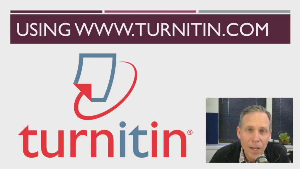 Main screen with turnitin logo and Jason Johnston picture