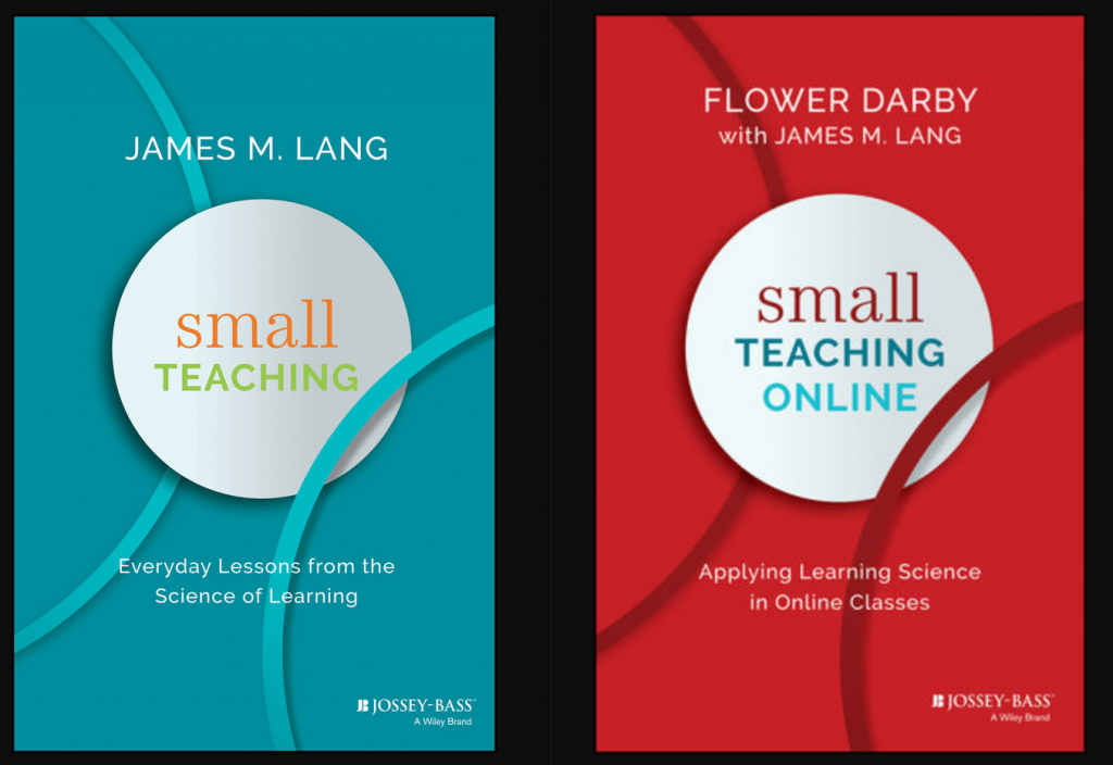 Book covers of Small Teaching and Small Teaching Online