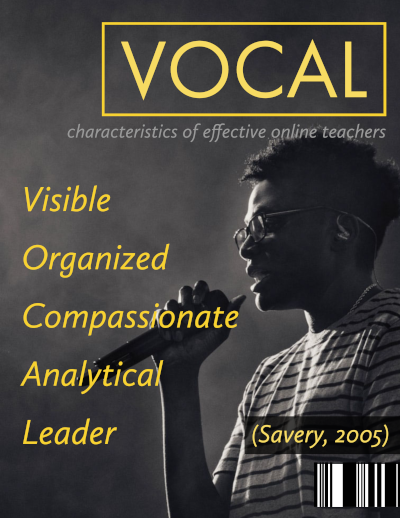 """Man holding a microphone like a fake magazine that says """"VOCAL"""""""